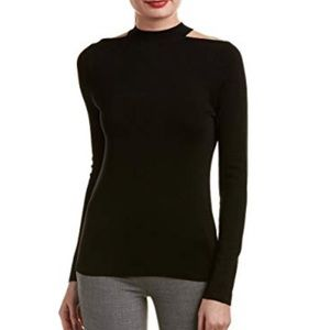 Elie Tahari Gina Cut Out Shoulder Sweater NWT $228